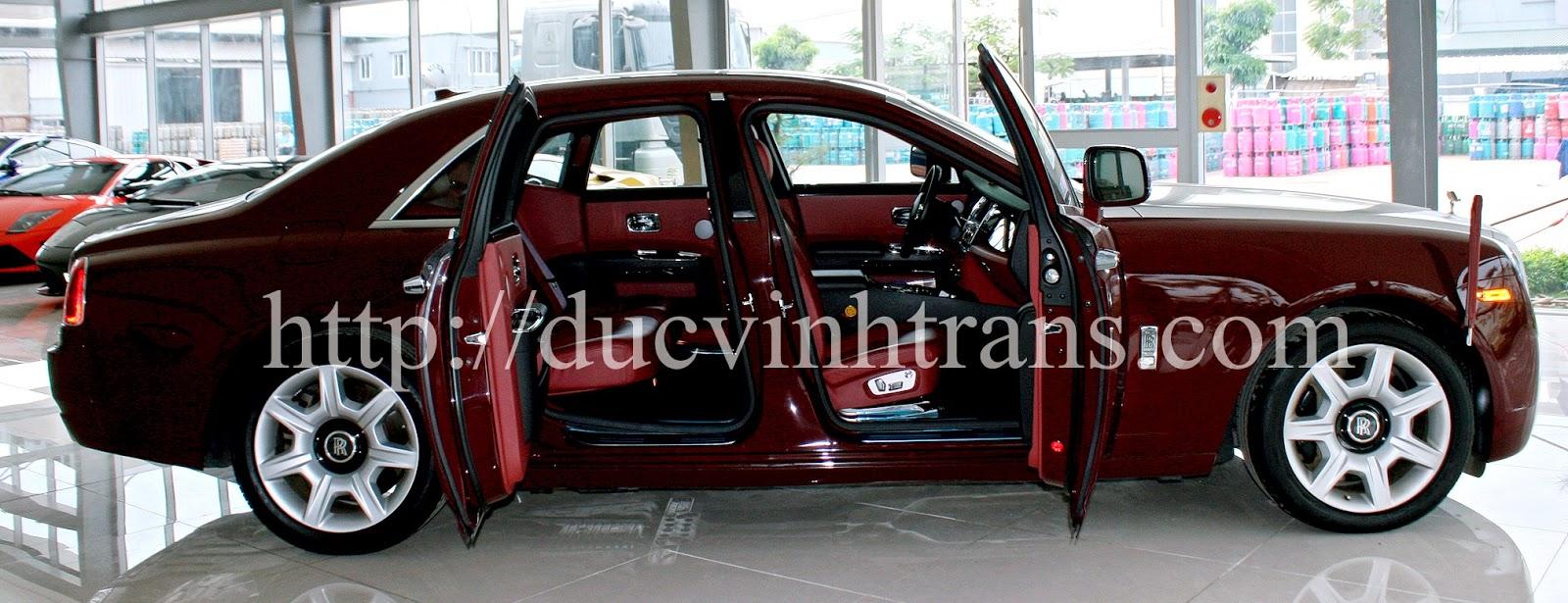 Đức vinh Cho thuê siêu xe RollRoyce đỏ đun cá tính