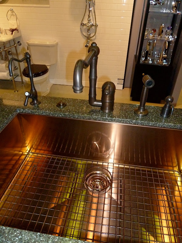 new stainless copper single bowl kitchen sink from Rohl title=