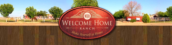 Snapshot of Welcome Home Ranch web page and grounds.
