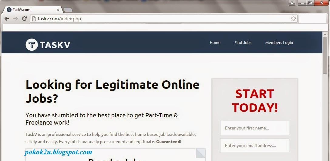TaskV com Tawarkan Kerja Online Seluruh Dunia