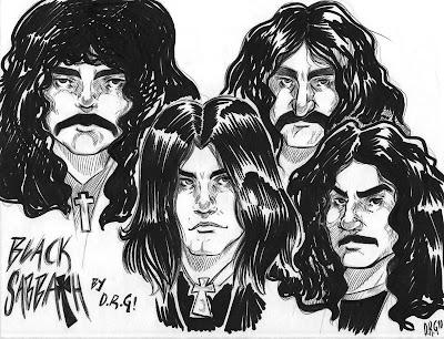 Desenho do Black Sabbath