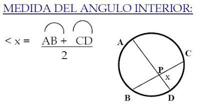 angulo interior: