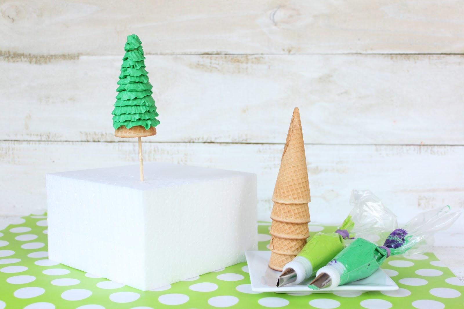 Crave. Indulge. Satisfy.: Ice Cream Cone Ruffle Tree Cake