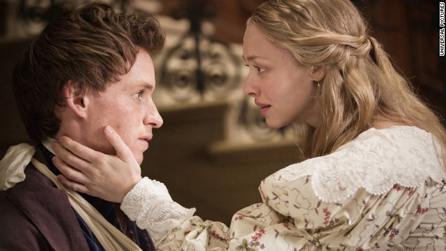Cosette comforts Marius Les Misrables (2012) movieloversreviews.blogspot.com