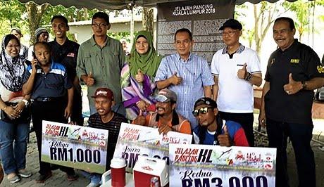 Wajah pemenang utama Jelajah Pancing KL Siri 1/2018 di Tasik Ampang Hilir
