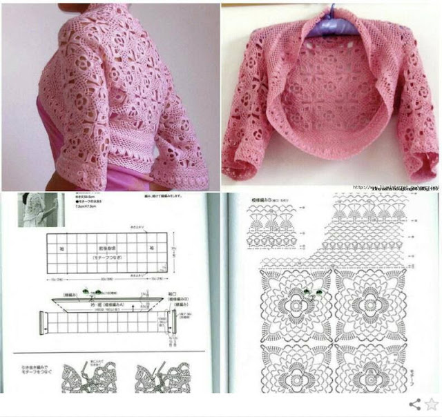 Crochet Patterns to Try: Free Crochet Charts for Two Summer Shrugs ...