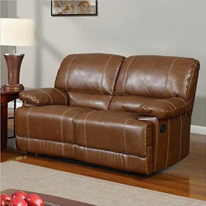 The Best Reclining Leather Sofa Reviews Rotunda Brown Bonded Leather Reclining Sofa And