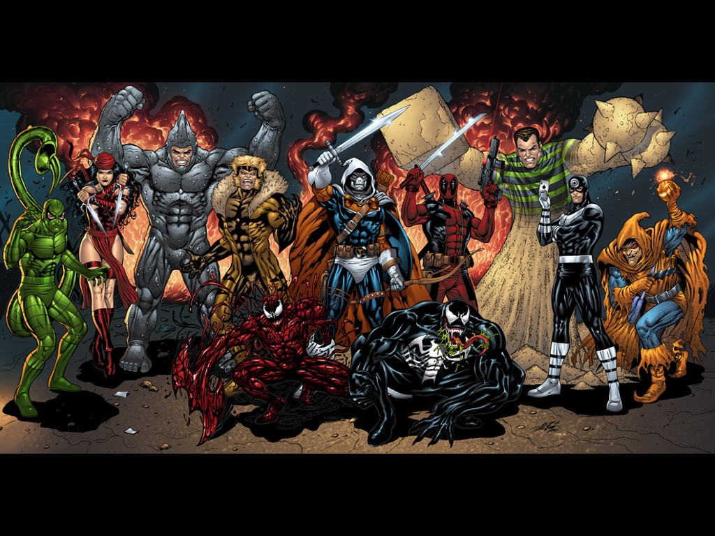 super heroes and villain - photo #39