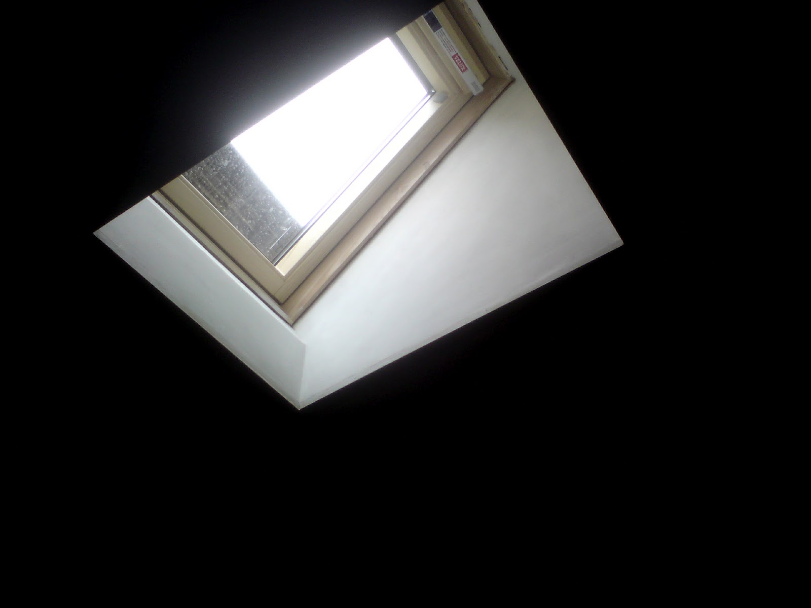 Loft conversion velux window instalation Ceiling window