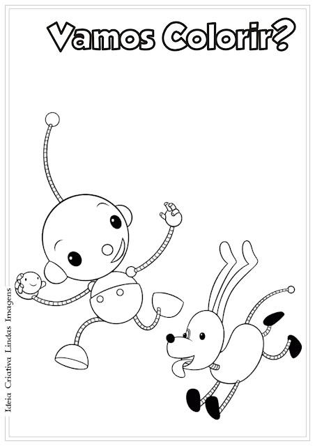 O mundo redondo de Olie desenho para colorir Olie e Spot