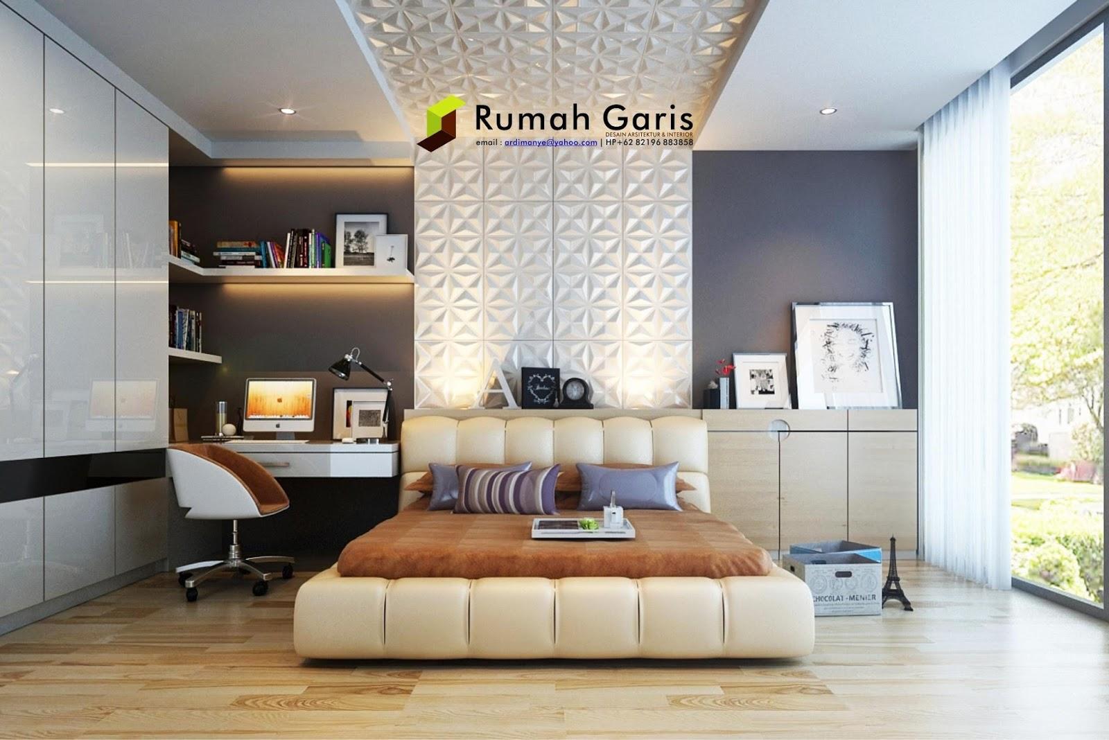 Desain Interior Makassar Kamar Tidur Anak Remaja 3D Render By Rumah Garis Studio Arsitektur