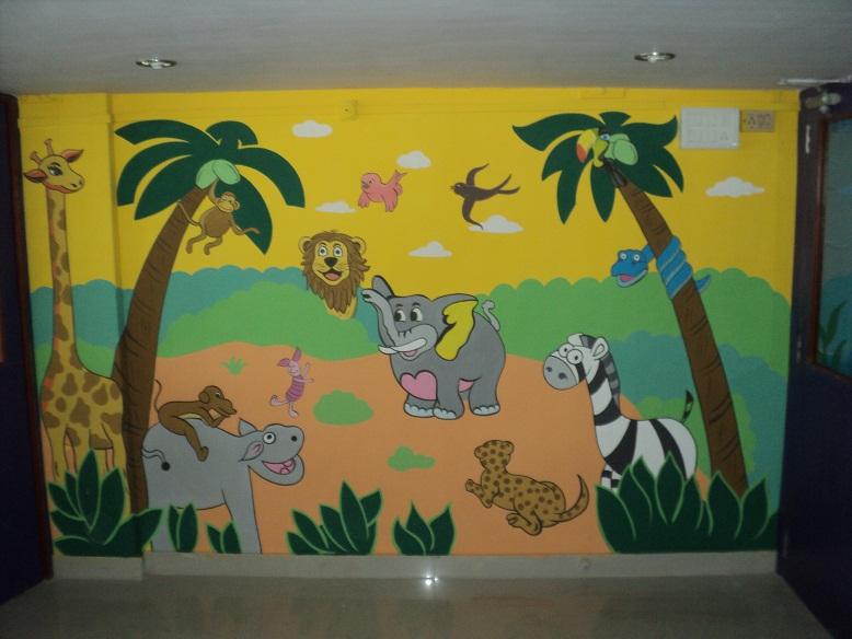 School kids classroom wall murals for Classroom mural