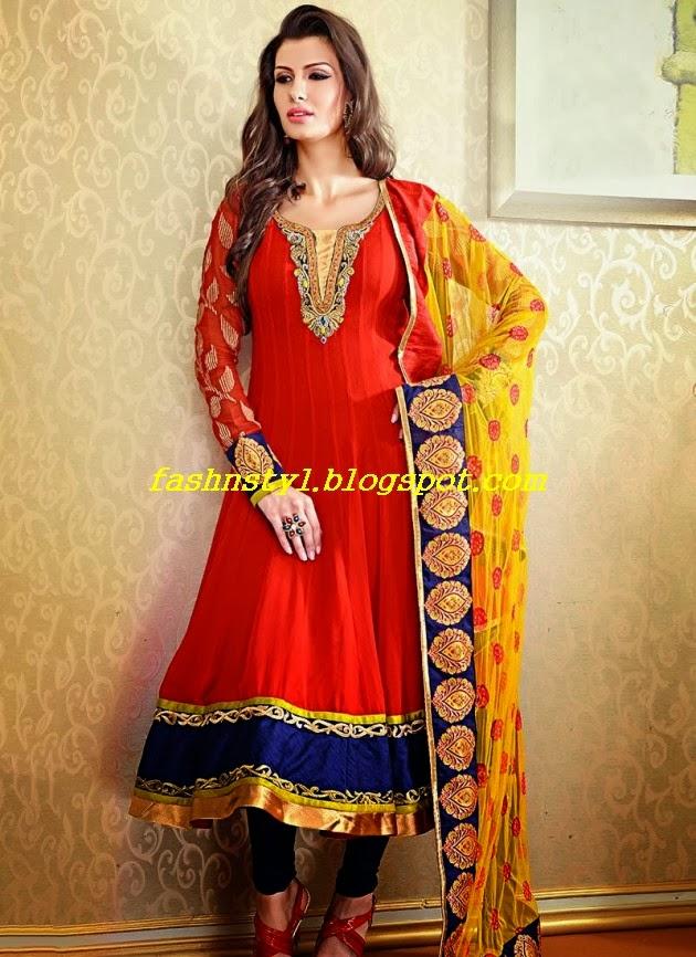 Anarkali Frocks Gorgeous Fancy Wedding-Bridal Wear Dresses 2014 ...