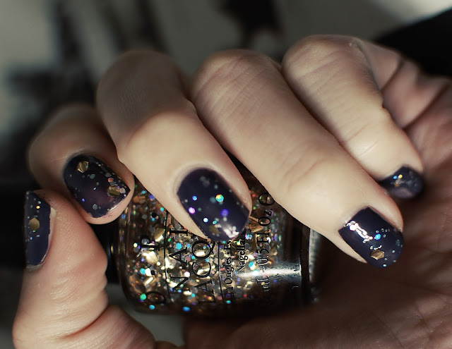 bleu asphalte - bourjois - vernis - so laque - top coat - paillettes - opi - When Monkeys Fly!