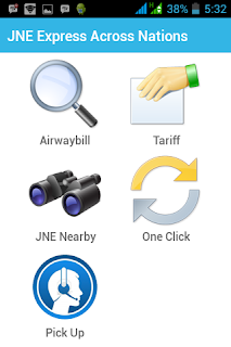 Aplikasi android JNE, Cara cek tarif jadi lebih mudah