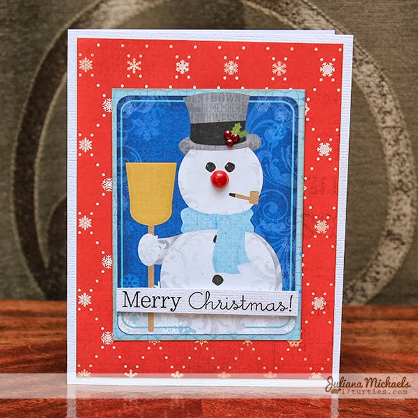 Tis The Season Snowman Christmas Card by Juliana Michaels