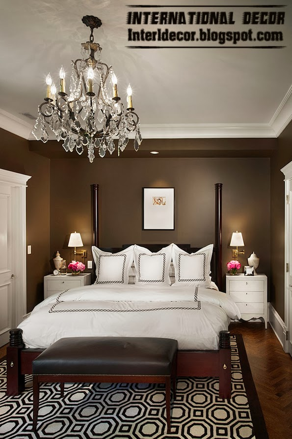 bedroom lighting, bedside lights, crystal chandelier