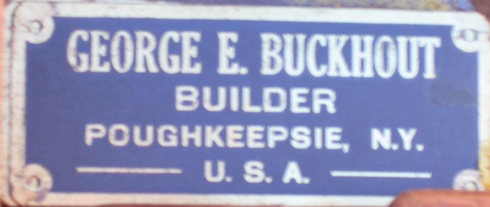 George Buckhout's tools