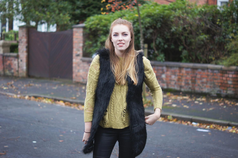 distressed knitwear