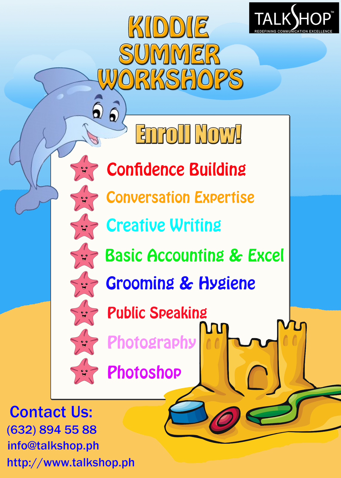 TalkShop's Kiddie Summer Workshops