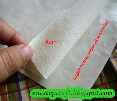 posisi kain dan freezer paper
