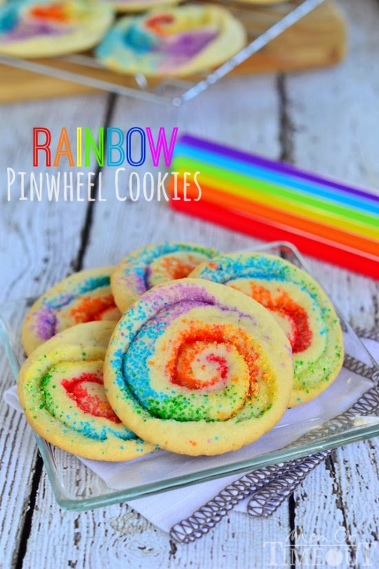 rainbow pinwheel cookies from mom on timeout