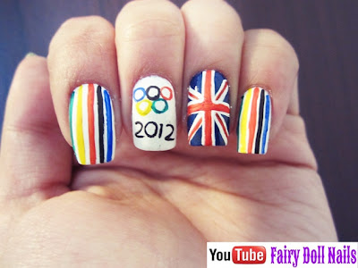 olympics colors nails
