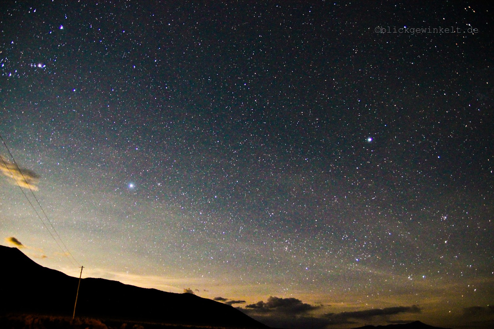 Sternenhimmel Sajama, Bolivien