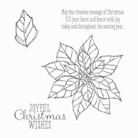 Poinsettia Stamps in Stampin'UP!'s new Joyful Christmas Stamp Set
