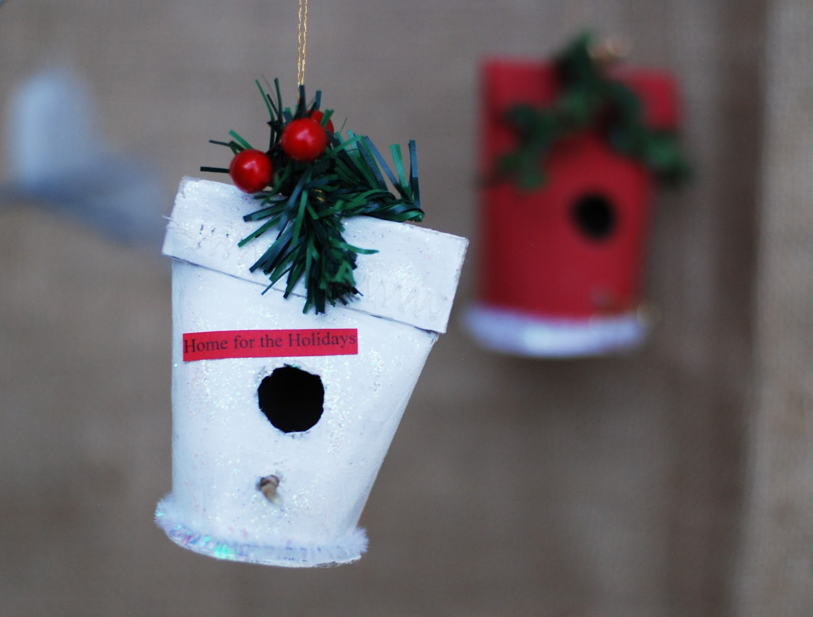 that artist woman how to make a christmas birdhouse ornament - Bird House Christmas Decoration