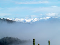 Panoràmica sobre el Pirineu nevat