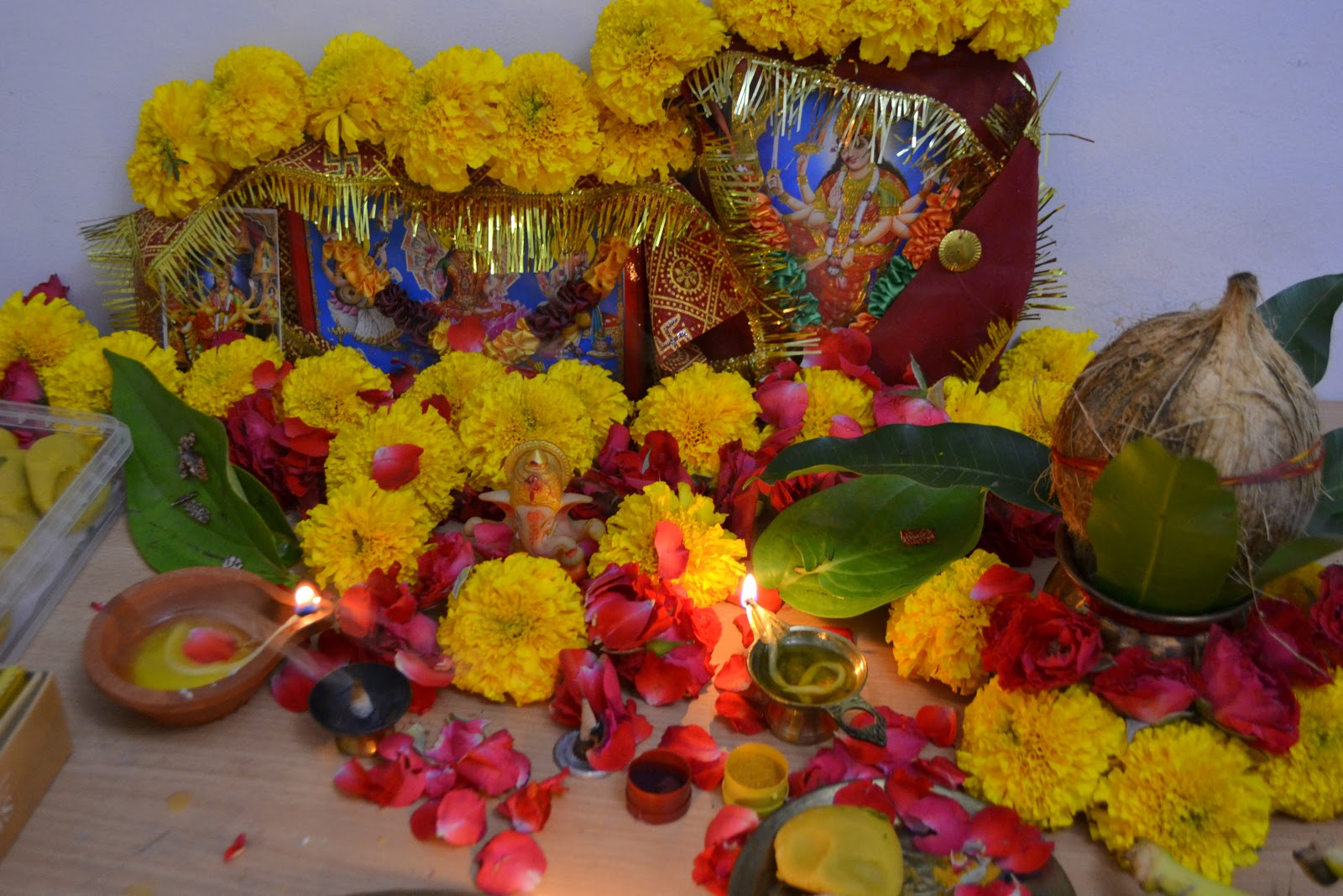 diwali pooja decoration