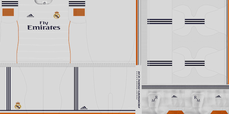 PES 2013 Real Madrid 13 14 Home Kit by Adrian18