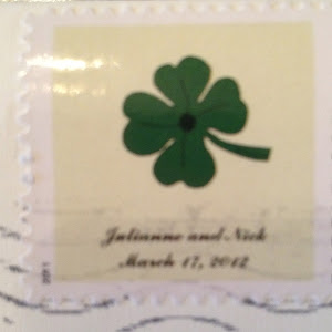 Personalized Shamrock Wedding Stamps