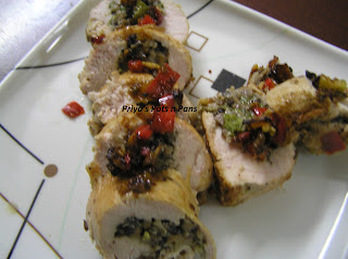 Mushroom, Spinach, Broccoli and Pepper stuffed Chicken Breast