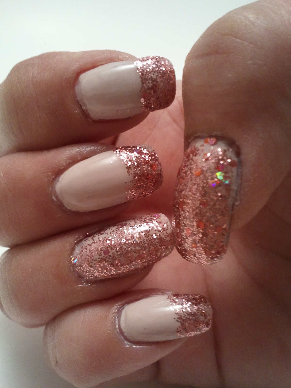 Glittery Fingers & Sparkling Toes: French Nail Tutorial