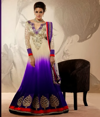 Dual Color Bollywood Suit Dresses