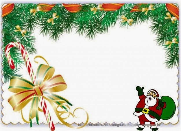 Christmas 2015 Santa Clip Art Borders Green Free