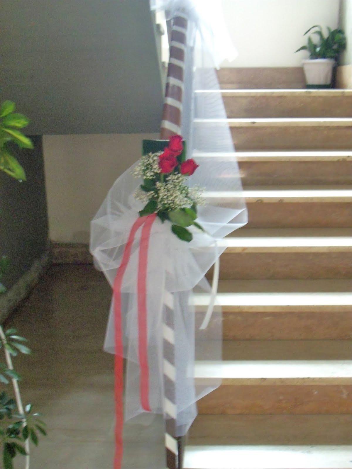 Addobbi scala per matrimonio ov29 regardsdefemmes - Allestimento casa della sposa ...