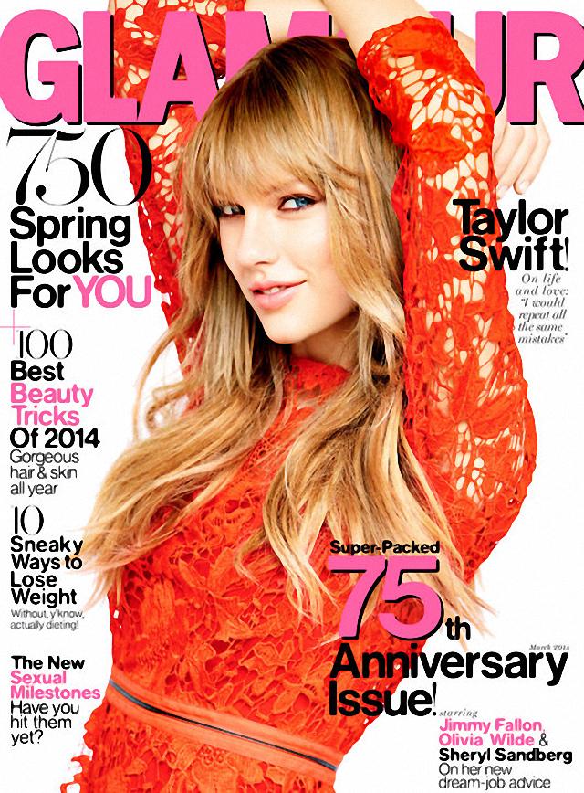 Taylor Swift  es la nueva portada de Glamour Magazine