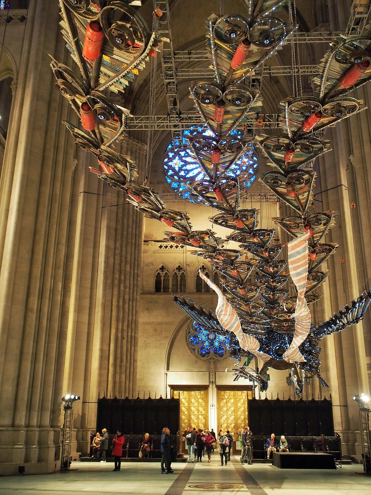 Feng #Feng #phoenix #xubing #stjohnthedivinecathedral #art #nyc ©2014 Nancy Lundebjerg