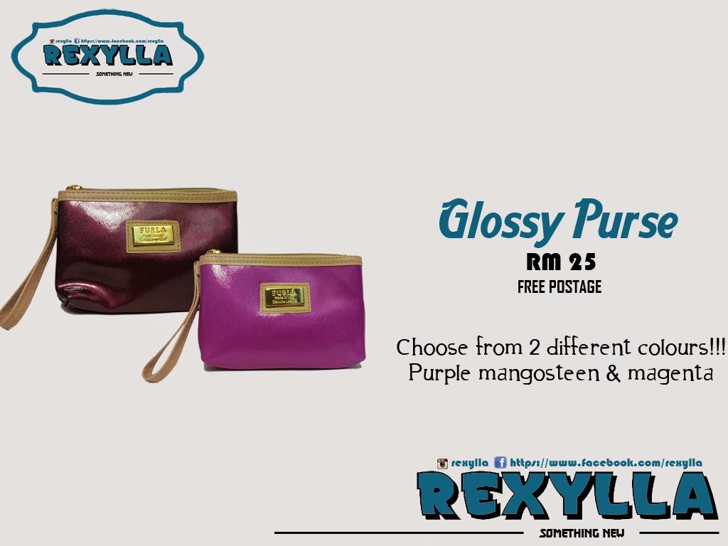 rexylla, glossy purse