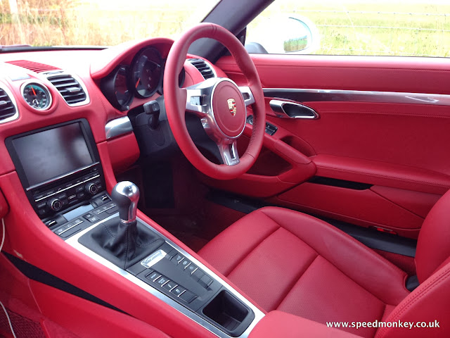 2013 Porsche Cayman in Carrera Red leather interior