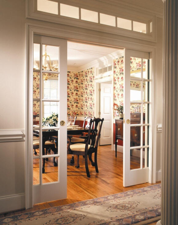 Fun stuff house visions of pocket doors dance in my head for Sliding glass door to french door