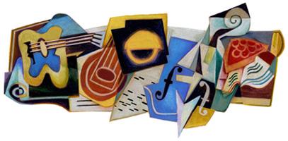 Google Juan Gris'in 125. Dogum Gunu Logosu