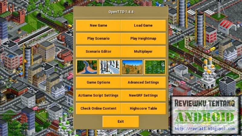 Tampilan utama permainan OPENTTD - Game transport tycoon deluxe untuk android (rev-all.blogspot.com)