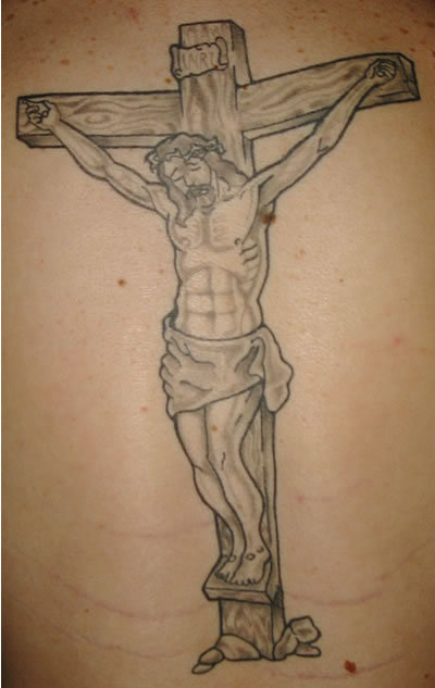 jesus christ tattoos and cross tattoos car interior design. Black Bedroom Furniture Sets. Home Design Ideas