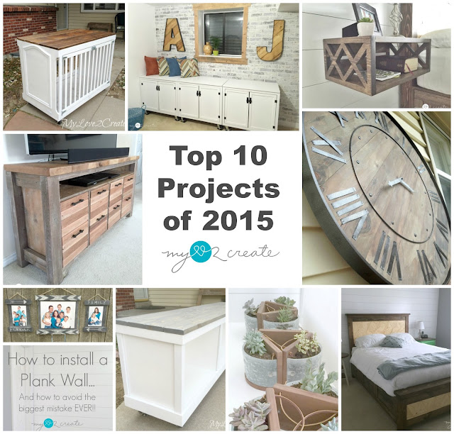 A look at the top ten projects of 2015 from MyLove2Create.  This post is pack full of great DIY tutorial projects and free building plans!