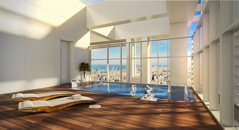 It may be too early to call this the best design trend for 2015, but it's hard no to appreciate for the flawless porcelain such a platinum masterpiece.  And the detail have emerged that the singer, Madonna has splashed out £ 36 Million for bought an exclusive Penthouse at Tel-Aviv, Israel.