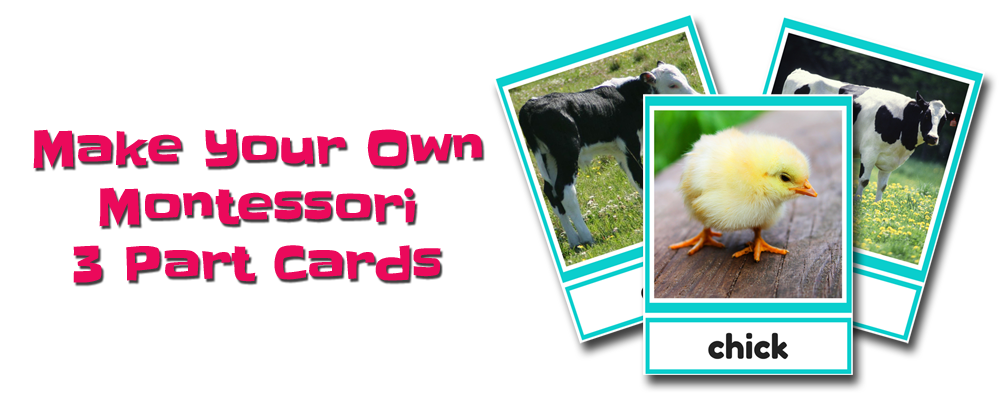 FREE Make Your Own Montessori 3 Part Cards Course